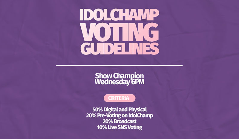 IDOL CHAMP Voting Guide for Kim Wooseok