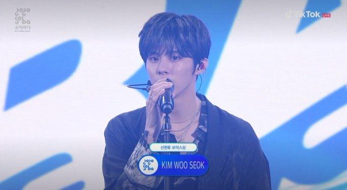 Kim Wooseok at the Soba Music Awards 2020